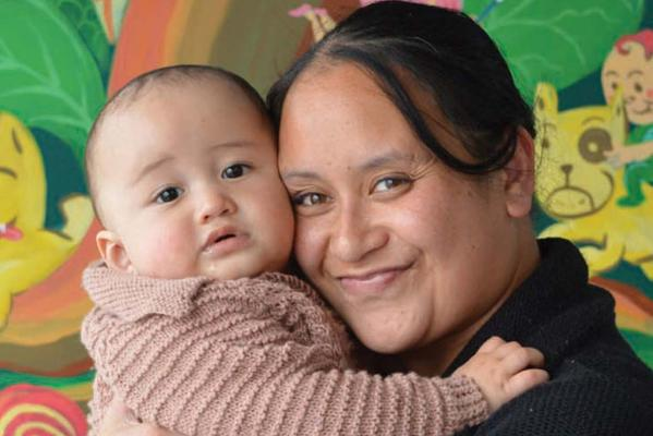 Levi Birch with his mum Tui Funaki, Plunket baby to meet Prince George
