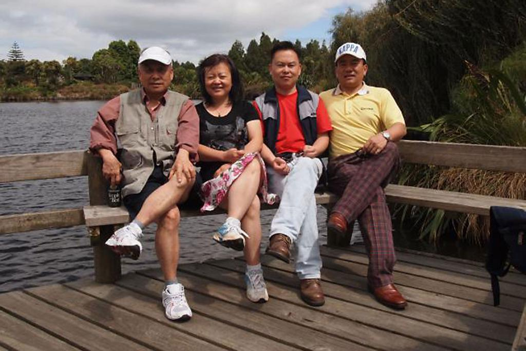 CHEN FAMILY: From left to right: Bao Xiang Chen (Cissy's father), Cissy Chen, Peter Chen, and Philip Chen.