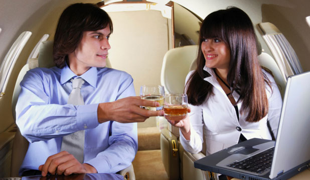 A TAKE-OFF TOAST: Would you be interested in meeting someone on a plane? A new dating app will facilitate it.