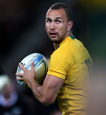 UP FOR TEST: Quade Cooper my yet get the chance to play alongside some test stars from the land of his birth, New Zealand.