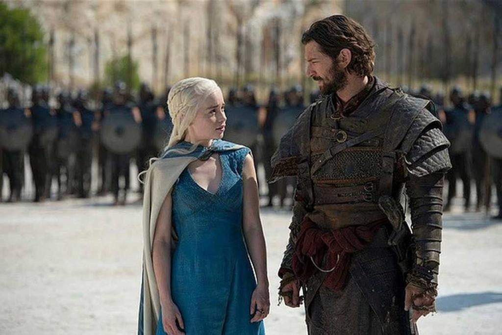 Game of Thrones season 4: Queen Daenerys Targaryen and Daario Naharis.