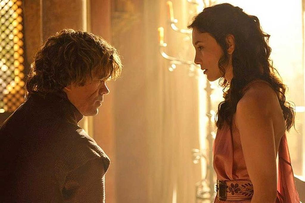 Game of Thrones season 4: Tyrion Lannister and his mistress Shae.