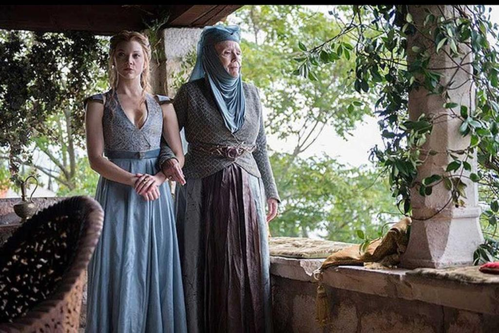 Game of Thrones season 4: Margaery Tyrell and her grandmother, Olenna Tyrell (or the Queen of Thorns).