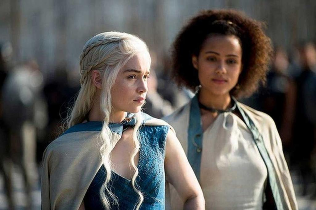 Game of Thrones season 4: Queen Daenerys Targaryen and Missandei.