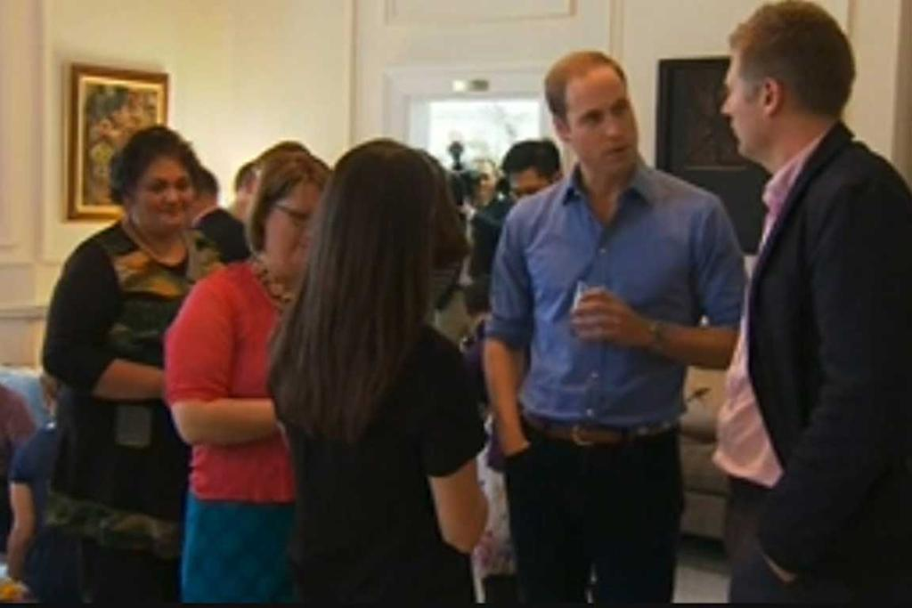 Prince William chats with the crowd at the Plunket event.