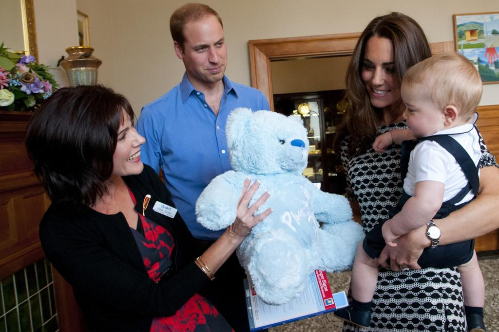 Now that's a stuffed toy. Prince George gets his own Plunket NZ bear.