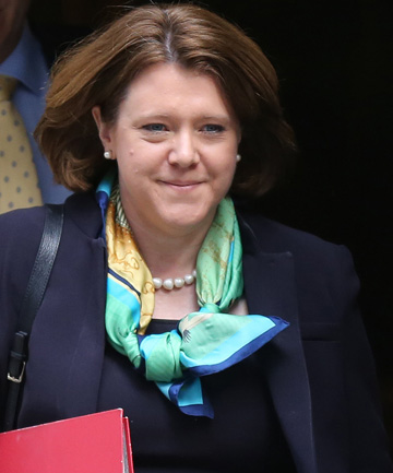 RESIGNED: Former Culture Secretary Maria Miller leaving 10 Downing Street yesterday (local time).