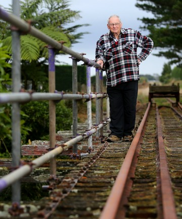 CHUGGING AHEAD: Waitara Railway Preservation Society chairman Denyse Bettridge.