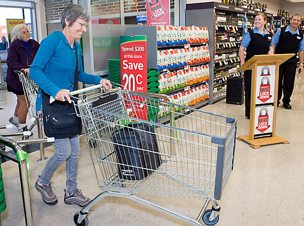 EARLY BIRD: Nicola Roake was the first shopper at Ferrymead's new Countdown.