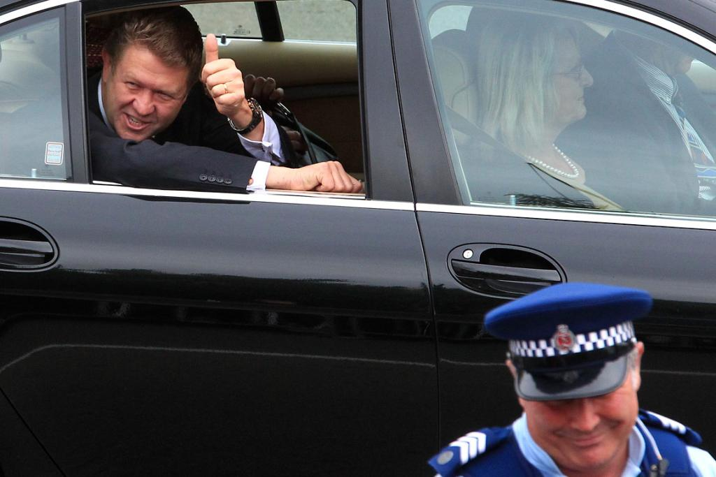 Opposition Leader David Cunliffe  arrives at the ceremony.