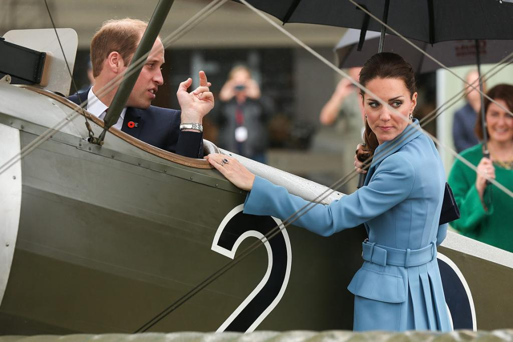 Kate doesn't seem too enamoured with whatever William is trying to point out.
