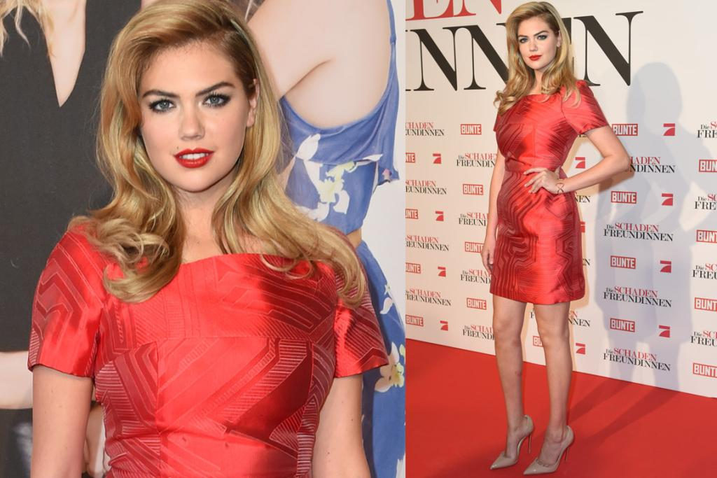 THE GOOD: I love how Kate Upton is channelling a 90s supermodel in a Revlon ad in this Fendi dress ... and pulling it off. A) Red is definitely her colour. B) I LOVE her retro waves. C) This dress would definitely be 'meh' without that cool geometric pattern. D) A lot of other commentators said they didn't like this as it was boxy and unflattering ... erm?! So because we can see that the women actually posseses hips and breasts it's a no? Pipe down!