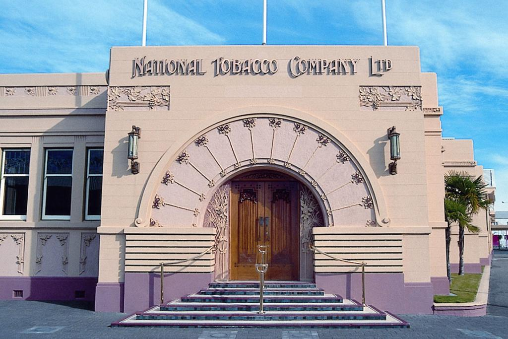 STILL SMOKING: The National Tobacco Company building is among Napier's many heritage charms.