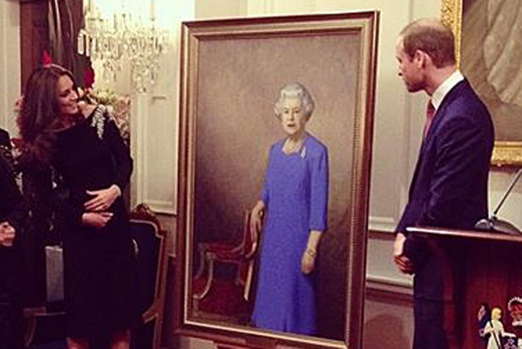 BIG MOMENT: The unveiling of the portrait of Her Majesty the Queen of New Zealand by Nick Cuthell.