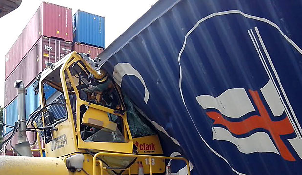Lyttelton Port container accident