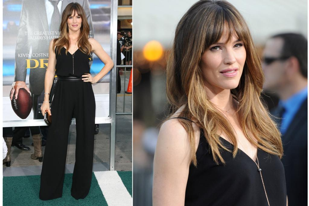 THE GOOD: While I dig Jennifer Garner's Max Mara jumpsuit because it really flatters her form and looks can-carbo-load-and-then-suck-out comfy, this look is all about her hair and makeup - that's the best dang ombre I ever done seen and the picture to the right is making me want to get my white eyeliner out again and experiment (last time I self-applied white eyeliner people kept saying ... 'erm, you've got a little something ...', pointing to the crusted bits of liner that had formed into something thrushy looking in the corner of my peepers. Not fun.).