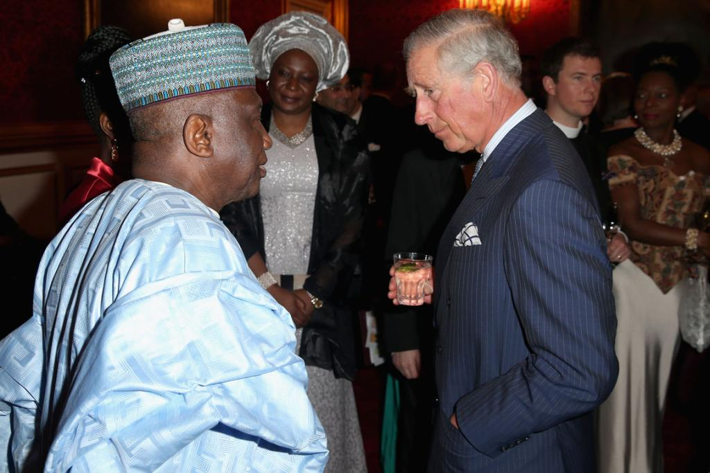 Meanwhile, back in Britain, Wills' father Prince Charles was today hosting the Royal Society for Commonwealth High Commisioners at St James's Palace.