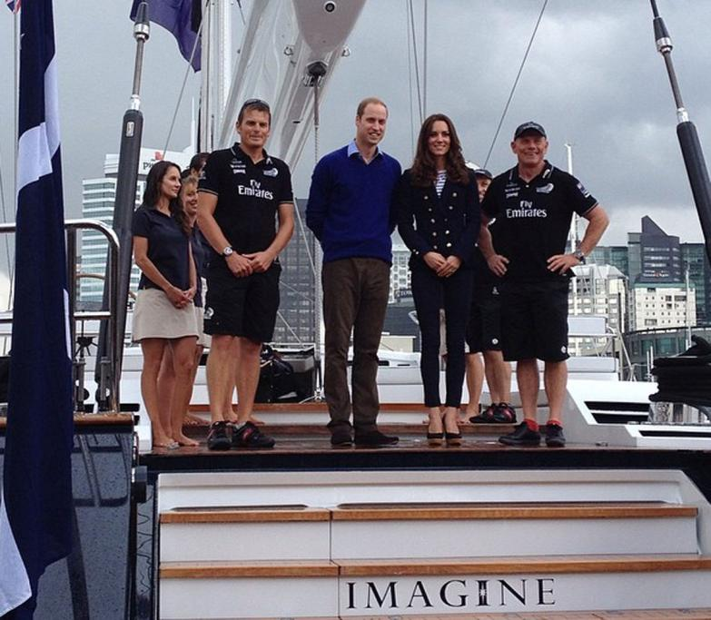 Royal tour in Auckland