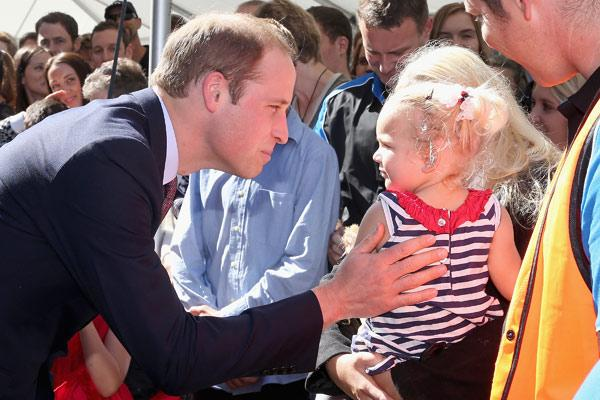The duke meets a young girl during his visit to Pacific Aerospace
