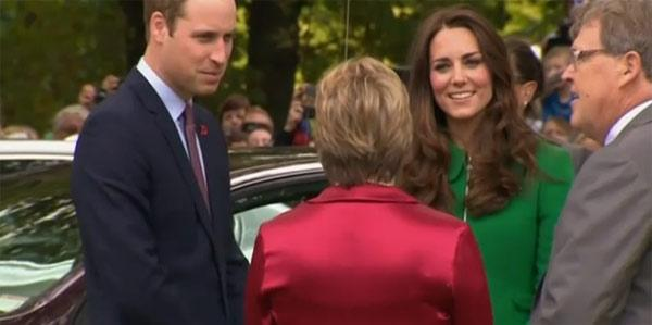 The Duke and Duchess arrive in Cambridge and speak to townsfolk before entering the town hall