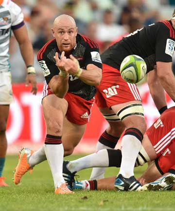 CLEARING THE WAY: Crusaders halfback Willi Heinz clears the ball from a ruck during their 52-31 victory over the Cheetahs in Bloemfontein.
