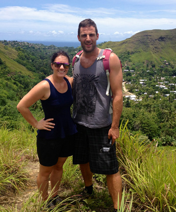 ANOTHER QUAKE: Christchurch woman Tamara Priddle and and her partner Dom Quaghebeur.