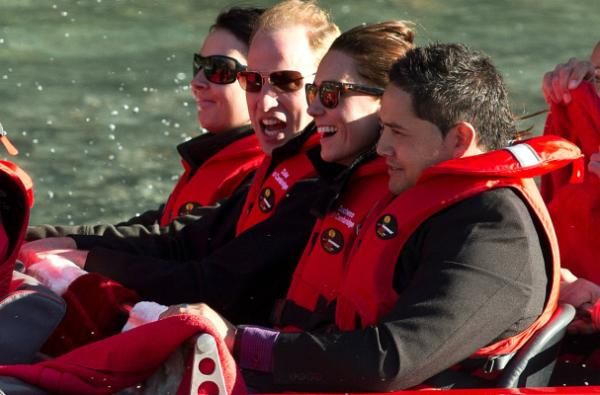 Prince William Duchess of Cambridge Shotover Jet