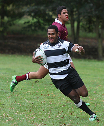 TRY TIME: Temuka's Rupeni Cokasanagi heads to the try line.