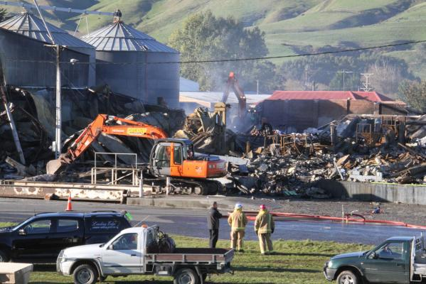 Livestock Supplies fire in Gore