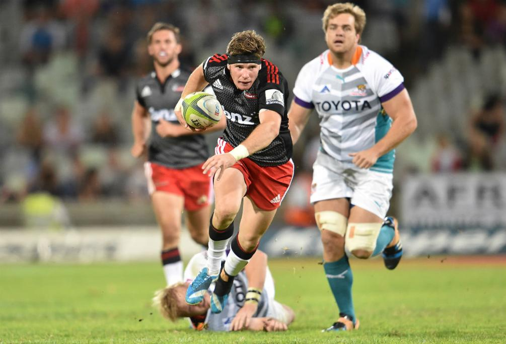 Crusaders No 10 Colin Slade goes on a run against the Cheetahs in Bloemfontein.