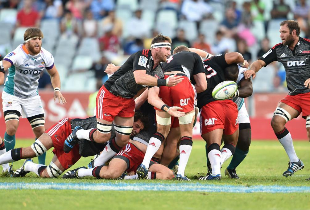 Crusaders captain Kieran Read breaks away from the back of a maul against the Cheetahs.