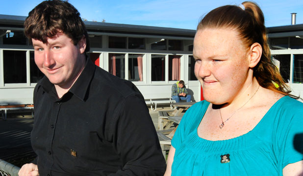 ROLE MODELS: Dylan Stuart, 18, and Samantha Morton, 21, are Ruru School's first ever head boy and girl.