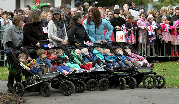 TWIN VISIT: Five sets of twins got to meet the royal pair in Christchurch.