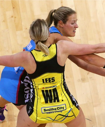 GETTING PHYSICAL: Steel player Wendy Frew with Pulse Camilla Lees.