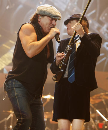SPLITTING UP? AC/DC are reportedly about to announce their retirement.