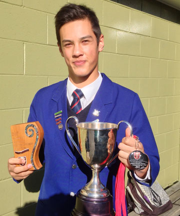Southland secondary schools' Cricketer of the Year, James Ng.