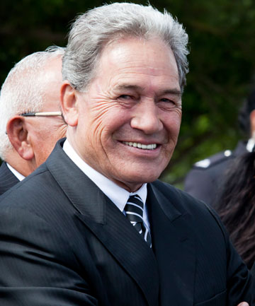 NZ FIRST LEADER: Winston Peters.