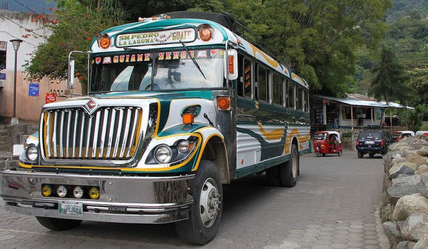 TAKING IT SLOW: Guatemala's buses are about the spectacle, not the speed.