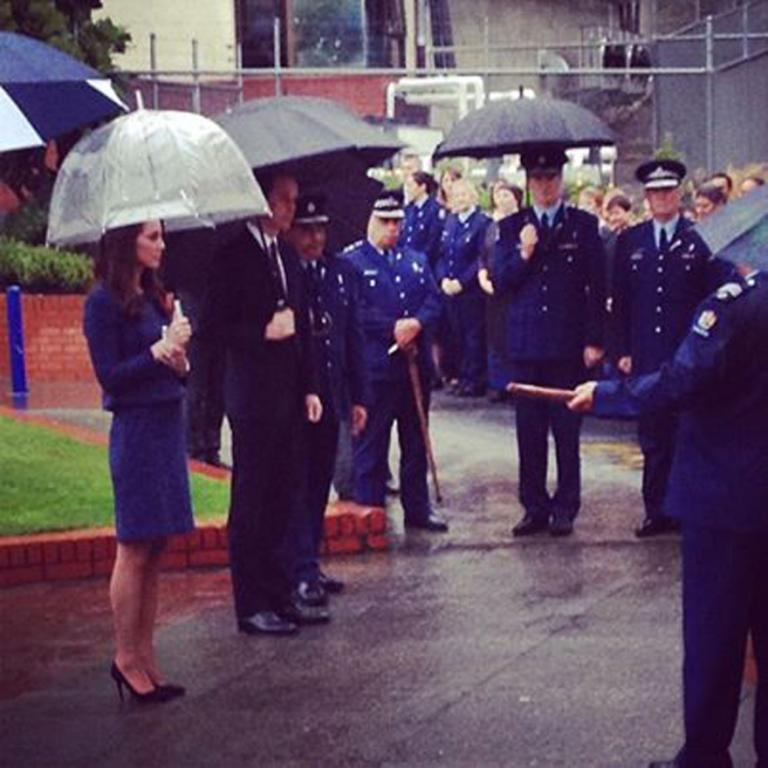 Wellington saved its worst weather for last with umbrellas a must for Wills and Kate on the final day of their New Zealand tour.