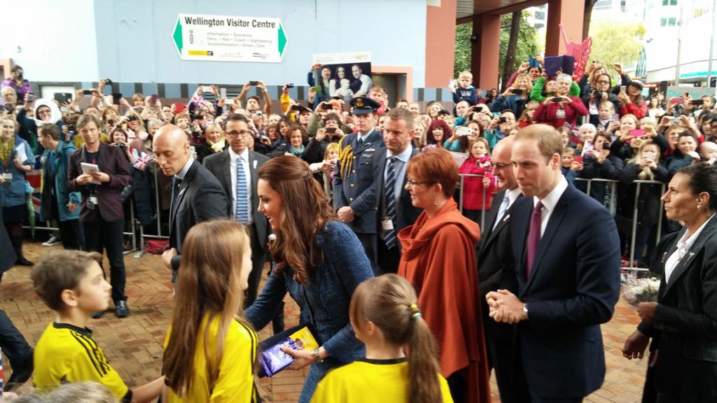 Some children were lucky enough to be plucked from the crowd to meet the Duke and Duchess of Cambridge.