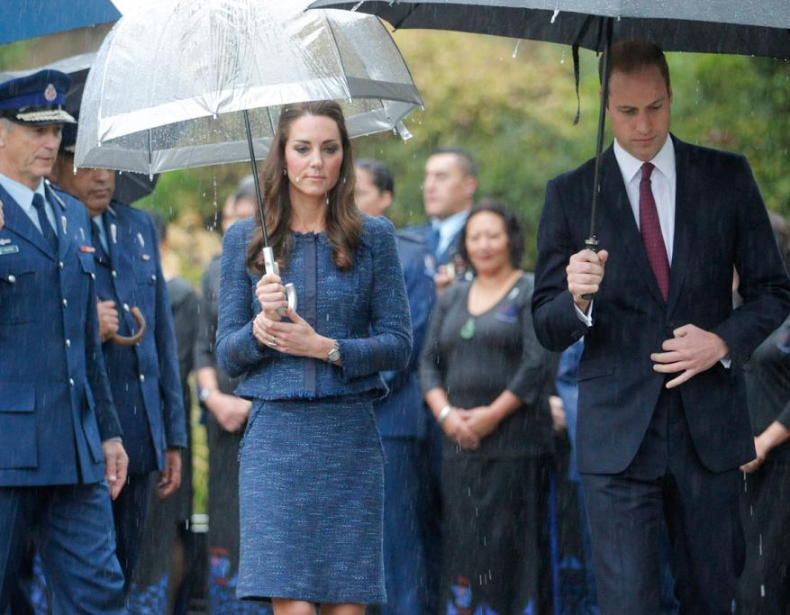 There were solemn moments on the royals' tour of the police college.