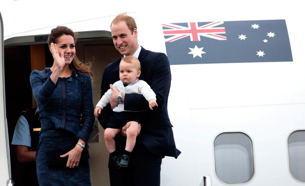 Wills, Kate and George waved goodbye to New Zealand as they boarded a Royal Australian Air Force plane at Wellington Airport.