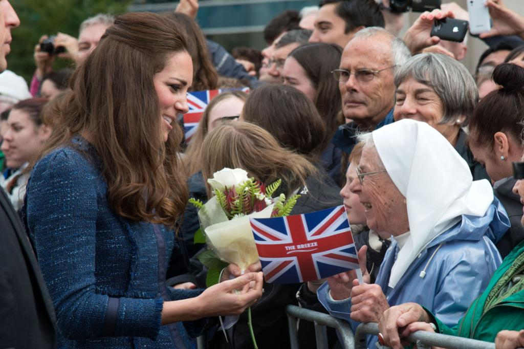 A nun's day was made when she got the chance to meet Kate in central Wellington.