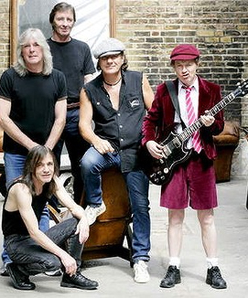 AC/DC: Guitarist Malcolm Young, bottom left, is suffering from an illness.