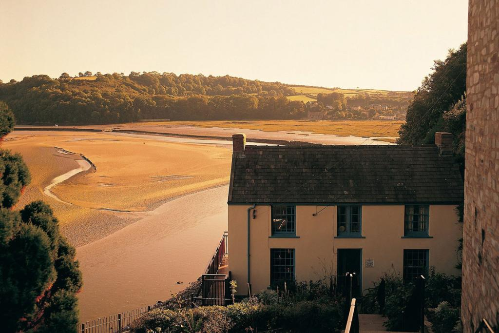 The boathouse in Laugharne, Wales, where Dylan Thomas lived.