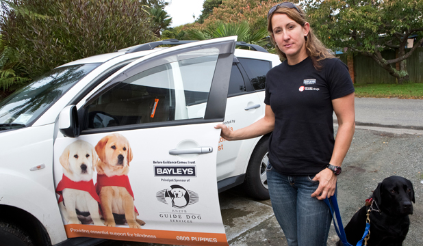 HEART SANK:  Blind Foundation Guide Dogs mobility instructor Jessica Nelipovich had items stolen from her work vehicle, including her work laptop.
