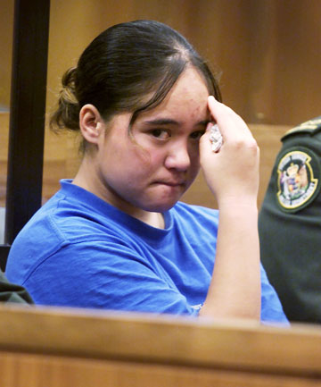 Renee Kara O'Brien at the time of sentencing in the New Plymouth court for the murder of Kenneth Pigott.