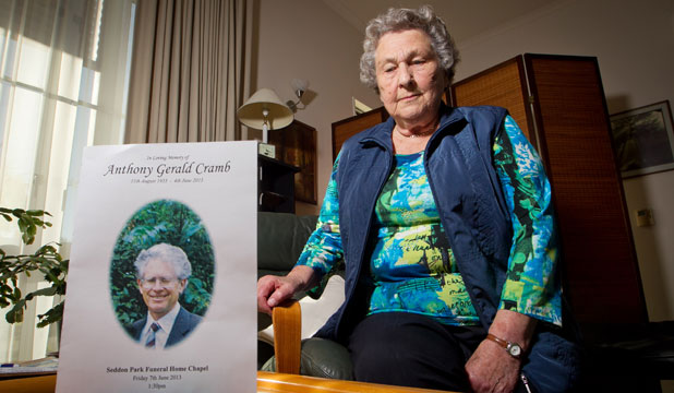STRONG SUPPORTER: Heidi Cramb says the work of Alzheimer's Waikato gave her the will to live.