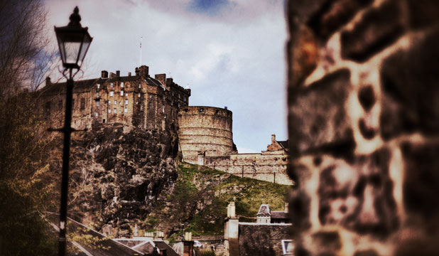 ROCK ROYALTY: Among many attractions at Edinburgh Castle are cannons, a war museum and a whiskey store.