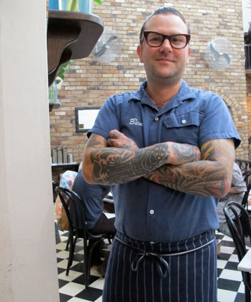 SYDNEY FOOD: Ben Milgate of Sydney's Porteno restaurant, specialising in Argentinian barbecue-style meats.